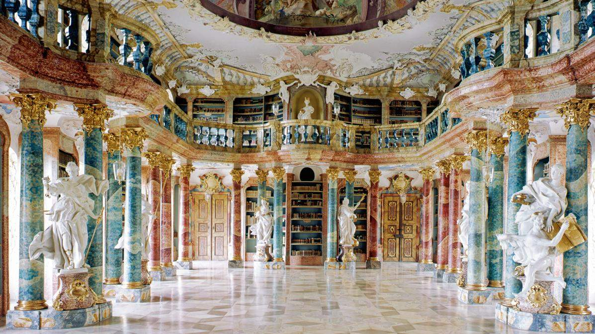 The monastery's library; photo: Landesmedienzentrum Baden-Württemberg, Hans Steinhorst