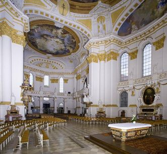 Westteil des Innenraums der Klosterkirche