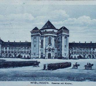 Postkarte aus der Schlosskaserne Wiblingen
