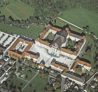 Luftbild des Klosters aus dem Jahr 1978