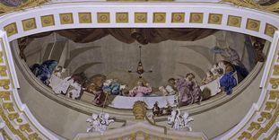 """""""Das letzte Abendmahl"""", Deckenfresko von Januarius Zick in der Basilika"""