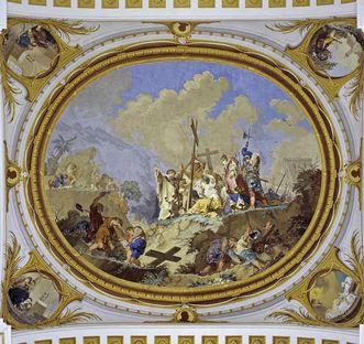 """Deckenfresko """"Kreuzauffindung"""" im Mönchschor, Januarius Zick um 1780"""