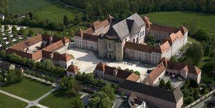 Luftaufnahme von Kloster Wiblingen