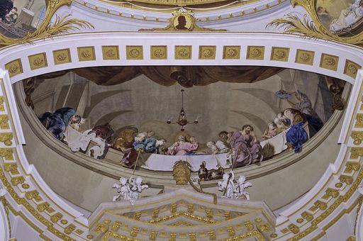 """Deckenfresko """"Das letzte Abendmahl"""", Januarius Zick, um 1778/80"""