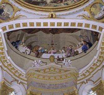 """Fresko """"Das letzte Abendmahl"""", um 1778/80"""
