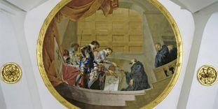 Fresko des Klosterstifters