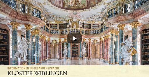 """Startbildschirm des Filmes """"Kloster Wiblingen: Informationen in Gebärdensprache"""""""