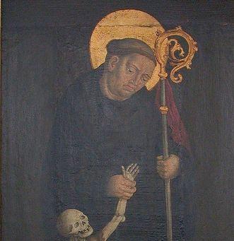 Gemälde des heiligen Fridolin von Säckingen