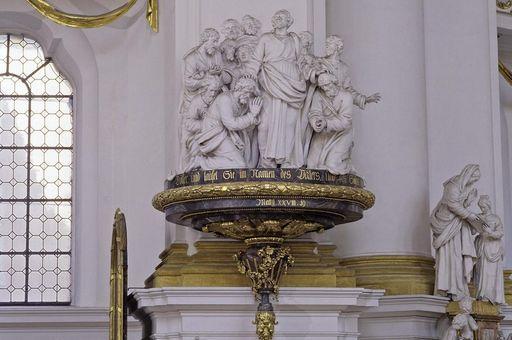Taufstein-Überdachung von Johann Georg Schnegg (1781), Klosterkirche Wiblingen